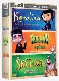Bontonfilm a.s. Koralína-Norman a duchové-Škatuláci - Kolekce 3DVD